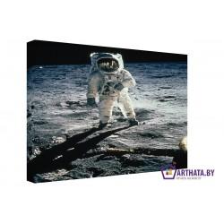 Фото на холсте Печать картин Репродукции и портреты - Человек на Луне