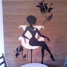 Картина на холсте по фото Модульные картины Печать портретов на холсте Трафарет Леди на стуле