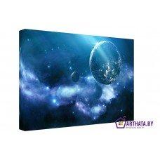 Картина на холсте по фото Модульные картины Печать портретов на холсте Свет далёких планет