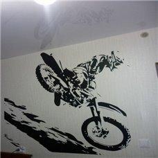 Картина на холсте по фото Модульные картины Печать портретов на холсте Трафарет Экстрим мотоцикла
