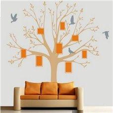 Картина на холсте по фото Модульные картины Печать портретов на холсте Трафарет Набор фоторамки+дерево+птицы