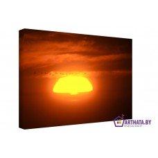 Картина на холсте по фото Модульные картины Печать портретов на холсте Полёт на закате