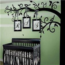 Картина на холсте по фото Модульные картины Печать портретов на холсте Трафарет Дерево с птичками