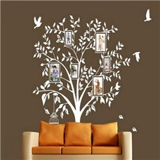 Картина на холсте по фото Модульные картины Печать портретов на холсте Трафарет Романтика дерева+фоторамки