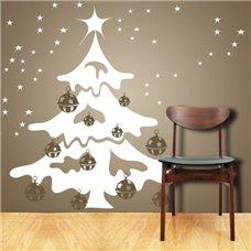 Картина на холсте по фото Модульные картины Печать портретов на холсте Трафарет Новогодняя ель с шарами