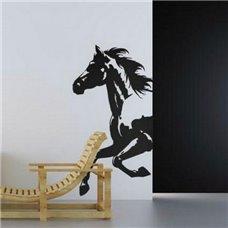 Картина на холсте по фото Модульные картины Печать портретов на холсте Трафарет Разбег коня