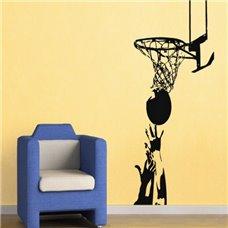 Картина на холсте по фото Модульные картины Печать портретов на холсте Трафарет Баскетбольная корзина