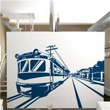 Картина на холсте по фото Модульные картины Печать портретов на холсте Трафарет Поезда