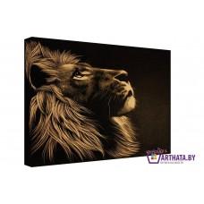 Картина на холсте по фото Модульные картины Печать портретов на холсте Гравюра льва