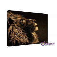 Гравюра льва