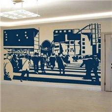 Картина на холсте по фото Модульные картины Печать портретов на холсте Трафарет Пешеходый переход