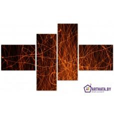 Картина на холсте по фото Модульные картины Печать портретов на холсте Яркие огни