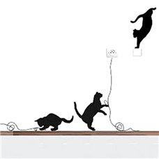 Картина на холсте по фото Модульные картины Печать портретов на холсте Трафарет Набор игривых котов