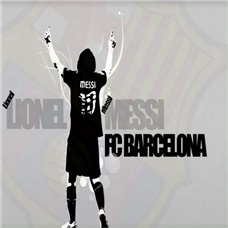 Картина на холсте по фото Модульные картины Печать портретов на холсте Трафарет Messi FC Barcelona