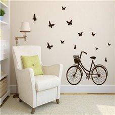 Картина на холсте по фото Модульные картины Печать портретов на холсте Трафарет Велосипедная прогулка (бабочки)