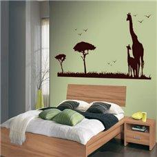 Картина на холсте по фото Модульные картины Печать портретов на холсте Трафарет Жирафы