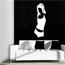Картина на холсте по фото Модульные картины Печать портретов на холсте Трафарет Женский образ