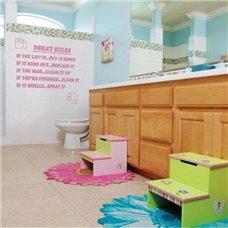 Картина на холсте по фото Модульные картины Печать портретов на холсте Трафарет Правила в туалете