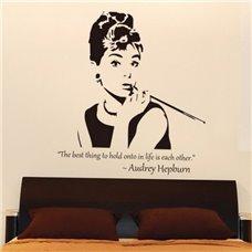 Картина на холсте по фото Модульные картины Печать портретов на холсте Трафарет Одри Хепберн