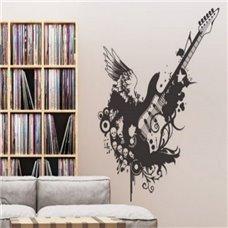 Картина на холсте по фото Модульные картины Печать портретов на холсте Трафарет Мелодия гитары