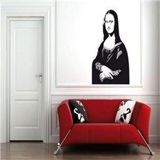 Картина на холсте по фото Модульные картины Печать портретов на холсте Трафарет Мона Лиза