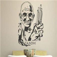 Картина на холсте по фото Модульные картины Печать портретов на холсте Трафарет Махатма Ганди