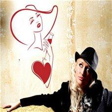 Картина на холсте по фото Модульные картины Печать портретов на холсте Трафарет Червовая дама