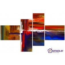 Картина на холсте по фото Модульные картины Печать портретов на холсте Цветные волны