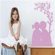 Картина на холсте по фото Модульные картины Печать портретов на холсте Трафарет Детская парочка