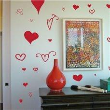 Картина на холсте по фото Модульные картины Печать портретов на холсте Трафарет Набор сердечек