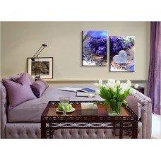 Картина на холсте по фото Модульные картины Печать портретов на холсте Диптих - Сирень
