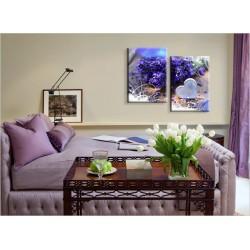 Диптих - Сирень - Модульная картины, Репродукции, Декоративные панно, Декор стен