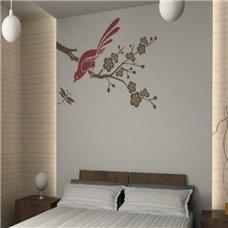 Картина на холсте по фото Модульные картины Печать портретов на холсте Трафарет Ветка вишни