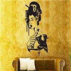 Картина на холсте по фото Модульные картины Печать портретов на холсте Трафарет Гейша
