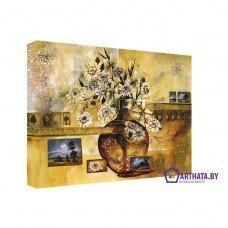 Картина на холсте по фото Модульные картины Печать портретов на холсте Ваза с цветами