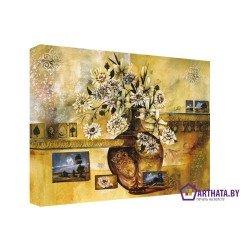 Ваза с цветами - Модульная картины, Репродукции, Декоративные панно, Декор стен