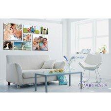 Картина на холсте по фото Модульные картины Печать портретов на холсте Фотостена №2