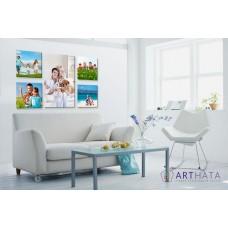 Картина на холсте по фото Модульные картины Печать портретов на холсте Фотостена №4
