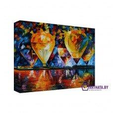 Картина на холсте по фото Модульные картины Печать портретов на холсте Воздушные шары