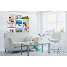 Картина на холсте по фото Модульные картины Печать портретов на холсте Фотостена №25