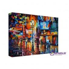 Картина на холсте по фото Модульные картины Печать портретов на холсте Ночной город
