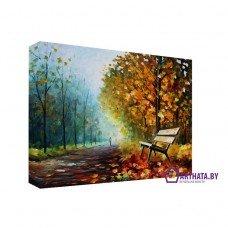 Картина на холсте по фото Модульные картины Печать портретов на холсте Опавшие листья