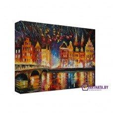 Картина на холсте по фото Модульные картины Печать портретов на холсте Мост через реку