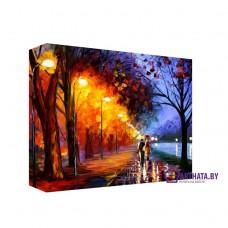 Картина на холсте по фото Модульные картины Печать портретов на холсте Свет фонарей