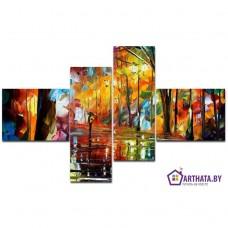 Картина на холсте по фото Модульные картины Печать портретов на холсте Во время дождя