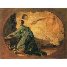 Картина на холсте по фото Модульные картины Печать портретов на холсте Женщина-органист