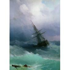 Картина на холсте по фото Модульные картины Печать портретов на холсте Буря 1868