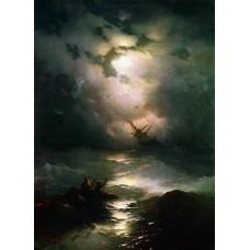 Картина на холсте по фото Модульные картины Печать портретов на холсте Буря на Северном Море