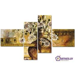 Ваза цветов - Модульная картины, Репродукции, Декоративные панно, Декор стен