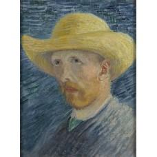 Картина на холсте по фото Модульные картины Печать портретов на холсте Автопортрет в соломенной шляпе